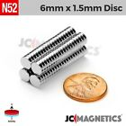 "Внешний вид - 50 100 1000pc 6mm x 1.5mm 1/4""x1/16"" N52 Strong Disc Rare Earth Neodymium Magnet"
