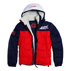 Mens Supa Winter Sherpa Jacket Fleece Lined Puffer Bubble Casual Quilted Jacket