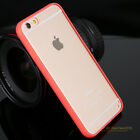 Soft Gel Bumper Frame Clear Acrylic Back Case Cover For iPhone 4 5 5S 6 6S Plus