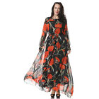 Plus size Bohemia Dress Muslim Flower Long Sleeves Baech Everyday Women's Dress