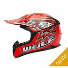 Wulfsport Kids Childrens Childs Flite Xtra Motor Bike Motocross Quad Helmet Red