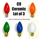 NEW C9 Traditional INCANDESCENT Light BULB Christmas Red Orange Green Blue White