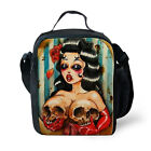 Cool Skull Thermos Cool Cooler Insulated Bag Box Picnic School Lunch Food Drink