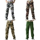 Men's Causal Camouflage Camo Military Cargo Combat Pockets Long Pants Trousers