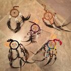 Mini 7 inch Assorted Leather Feather Bad Dream Catcher Help Sleep 2 in ring DCL3