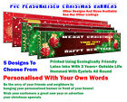 6 ft x 2 ft Personalised PVC Banner For Christmas Xmas 5 Designs To Choose From