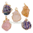 Natural Rock Gemstones Healing Reiki Chakra Beads Point Pendant Charm Beads