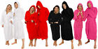 HOODED BATHROBE 100% COTTON M L XL XXL XXXL XXXXL PRESENT GIFT MENS LADIES GOWN