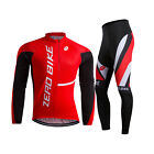 Men Bike Bicycle Clothing Long Sleeve Cycling Jersey&Trouser Sets GEL Breathable