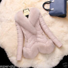 Real Fox Fur Collar Lamb Leather Down Coat Jacket Clothing Warm X'cam Gift NEW