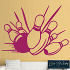 Bowling Ball Pins Sport Cool Games Wall Art Stickers Decals Vinyl Home Room Deco