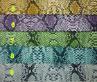 MAT236 SNAKE lizard printing PU PVC material faux leather DIY fabric