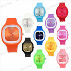 24cm Wrist Unisex Watch bangle Silicone Jelly Candy Sport Dial Quartz Free Ship
