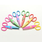 Children Safety Scissors 6 Shaped Cutting Patterns Curved Edges Kid Xmas Gift EW