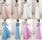 WOMEN'S VINTAGE LACE&CHIFFON PROM LONG BRIDESMAID DRESS  EVENING PARTY BALL GOWN