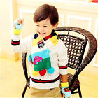 New Autumn Winter Knitting Wool Muiltcolored Stripes Balls Baby Scarves Snood