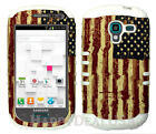 Hybrid Silicone Cover Case for Samsung Galaxy Exhibit T599 - American Flag