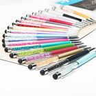 2in1 Touch Pen Kugelschreiber Strass Kuli Eingabestift Handy Tablet Smartphone