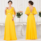 Chiffon Women's Long Cocktail Bridesmaid Dress Formal Party Evening Gown Dresses