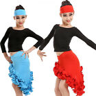 Girls Latin Salsa Dancewear Dress Kids Ballroom Dance Costumes Top