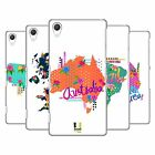 HEAD CASE DESIGNS TRENDY MAPS HARD BACK CASE FOR SONY PHONES 2