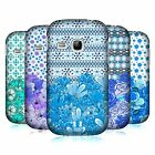 HEAD CASE DESIGNS FLORAL BLUE HARD BACK CASE FOR SAMSUNG PHONES 5