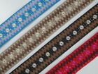 "01yd Embroidered Trim 2.20"" wide ( Woven Border Sew Jacquard Ribbon ) T314"