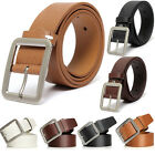 Fashion Men's Casual Dress PU Leather Belt Alloy Button WaistBand Strap Belts