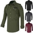 Men's Fashion Shirt Long Sleeve Size S M L XL Casual Formal Dress Slim Fit TOPS