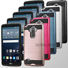 For LG G Stylo LS770 Vista 2 Slim Hybrid Brushed Rubber Hard Protector Case