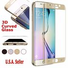 Full Covered 9H Tempered 3D Curved Glass Screen Protector Samsung Galaxy S6 Edge