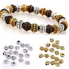 Wholesale 20 / 100 Pcs Lots Tibetan Antique Silver Spacer Beads Findings 8x6mm
