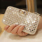 New Women Wallet Bling Crystal Leather Case Cover Protector For iPhone Sansung
