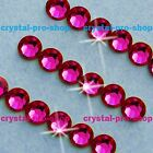 GENUINE Swarovski Ruby ( 501 ) Hotfix Rhinestone  Iron On Crystal Round Bead Gem