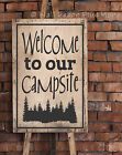 Welcome To Our Campsite Wall Decal Sticker RV Camp Quote Saying 23x15