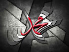 Muhammad Arabic 3D Effect Calligraphy Black/White/Red Islamic Canvas Wall Art