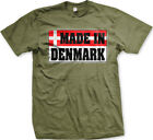 Distressed Made in Denmark Flag - Danish Flag Pride  Mens T-shirt