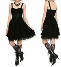Nightmare Before Xmas Corset Lace Tulle Underlay Jack Flocked Filigree Dress