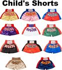 Kids Childs Muay Thai Boxing Shorts Kick Boxer Trunks Childrens 2XS XS S M, MMA