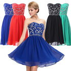 NEW Strapless Short Bridesmaids Dress Mini Evening Party Prom Wedding Grad Dress