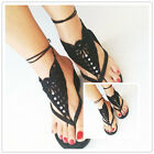 Barefoot Sandals Crochet Foot Jewelry Ankle Anklet Cotton Bracelet Chain New