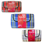 Linens Limited Tartan Check Waterproof Fleece Picnic Blanket
