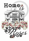 Poster*Druck*DIN A4*Home is where my Roses grow*Made by Mrs. B.-Design*
