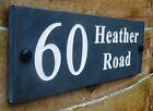 High Quality Deep Engraved Natural Honed Slate House Name Sign Number Plaque