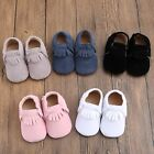 Baby Soft Sole suede Leather Shoes Infant Boy Girl Toddler Moccasin 0 18m  QU