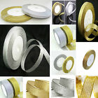 Full 22 mtr Roll Of Metallic Gold / Silver Organza ribbon 6mm,10mm, 20mm