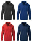 New Blue Max Quarter Zip Adults Microfleece Jacket Relaxed Fit Seniors Jumper