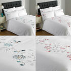 Riva Home Marissa Floral Embroidered Duvet Cover Set