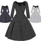 Womens Vintage Style 1950's Retro Swing Dance TEA Evening Party Dress