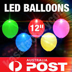 "LED BALLOONS LARGE 12"" GENUINE HELIUM QUALITY LIGHT UP PARTY BIRTHDAY WEDDINGS"